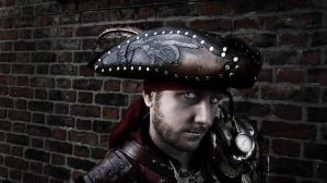 Zombie pirate tricorn hat by Skinz-N-Hydez