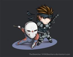 MGS1: Fox and Snake by WithSkechers