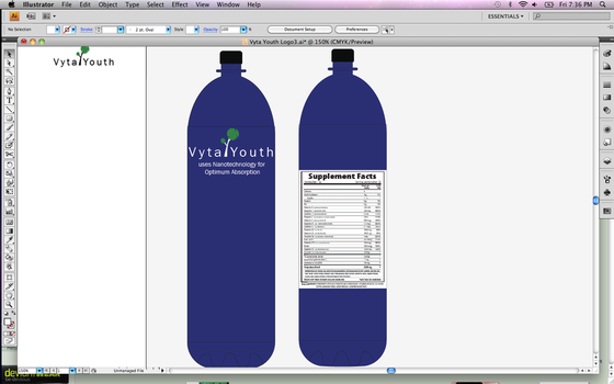 Vyta Youth Bottle design by ingrassiachristina