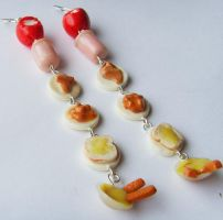 11th Doctor Who Food Earrings by tyney123