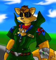 James McCloud and baby Fox. by Virus-20