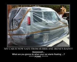 Saran Wrap Car for Irene by kclcmdr