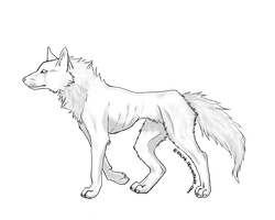 free wolf .:lineart:. by Kaly4
