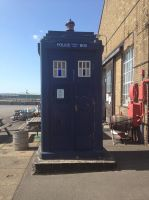 Doctor Who has come to my local historic Port by Aceikith-Alain