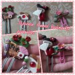 Japanese Themed Bookmarks/Paperclips by 8888DeathTheKid