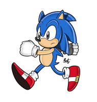 Classic Sonic SA Style by Marcotto