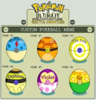 :Hero's Custom Pokeballs: by Sparkle-And-Sunshine