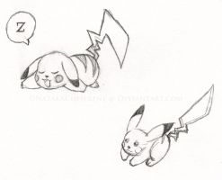Pikachu Drawings by NatakaChiSerene