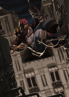 Spiderman steam punk by kajinman