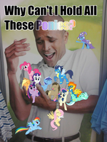 Why cant I hold all these Ponies? by nhoj757