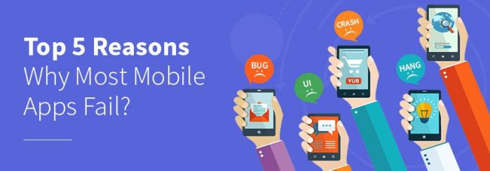 Top 5 Reasons Why Most Mobile Apps Fail? by envisionmobileapps