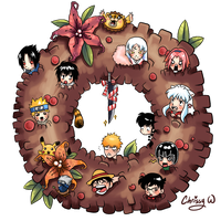 manga wreath by wangqr