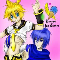 banana ice cream by VocaloidYAOI
