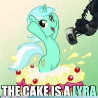 The Cake is a Lyra by Daringdoo