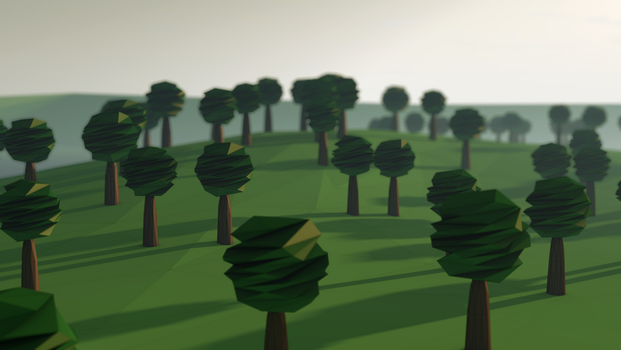 Lowpoly trees by FearTheEC