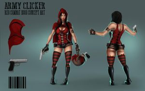 Little Red Combat Hood - Concept Art by ArmyClicker