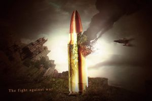 Digital Art (The Fight Against War) by ShatteredGraphicss