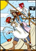 Jack Sparrow and Ani by kyetxian