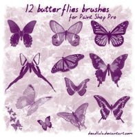 12 Butterflies Brushes for psp by DeadLulu