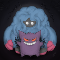 Tangrowth x Gengar  [commission]