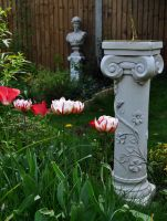 Sundial And Tulips by Forestina-Fotos