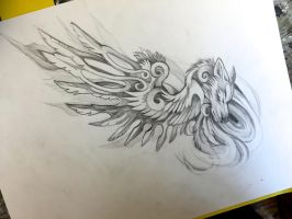 Fantasy Wing Commission by Lucky978