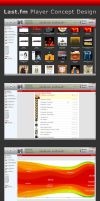 Last.fm Player Concept Design by LeMarquis
