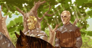 ASoIaF: Jaime and ser Ilyn by Pojypojy