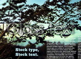 Glass Text by napx-0