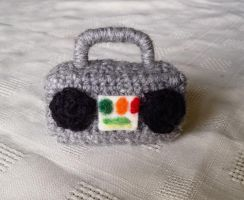 Crocheted Boombox by Mickeycricky