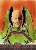 Superman: The Legend sketchcard 62 by RobertHack