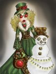 Cogs and Christmas Lights by Sammicula