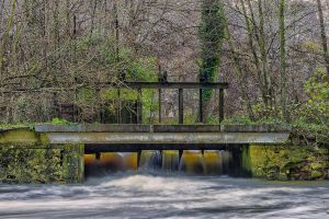 The water bridge  Argentan Orne France by hubert61