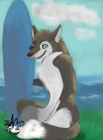 Tuli Surf Fox Colored by MadCheshireFox
