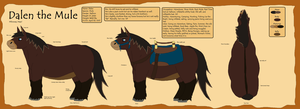 Dalen the Mule Ref Sheet by nissandriver217