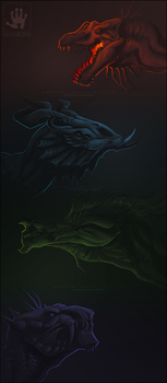 Dragon Busts by DemonML