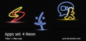 Apps set 4 Neon by JyriK