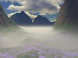 Mountain Mists3-Violet Fields by cmptrwhz