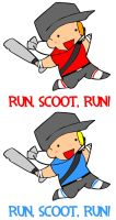 TF2: RUN SCOOT RUN :T-shirt: by anime-dragon-tamer