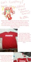 T-shirt Alteration Tutorial: Fakku's Momoka! by Zalora