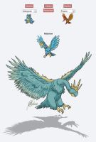 Pokemon Fusion: Nidorow by handraw