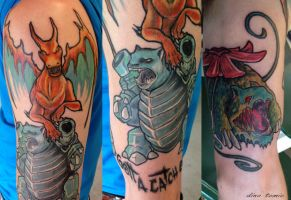 Started a pokemon half sleeve by AtomiccircuS