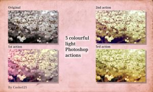 3 Colourful light actions by cosboom