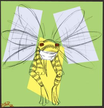 frog bee by Bob-Rz