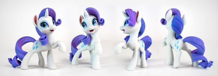 Rarity 3D Print (4.5in Tall, Hasbro Super Fan Art) by TimothyB