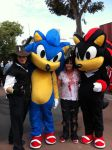 Sonic, Cowboy brother and Zombie Me!!! by Voodoo-Jai