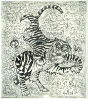 The Laughing Tiger by koshii
