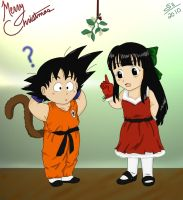 Goku and ChiChi's Christmas by corgi-ai88