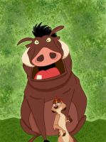 Timon and Pumbaa by Mirinata