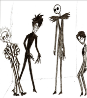 Tim Burton Guys by MyDearWatson